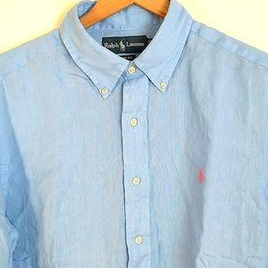 NWOT Ralph Lauren Soft Large Baby Blue Shirt